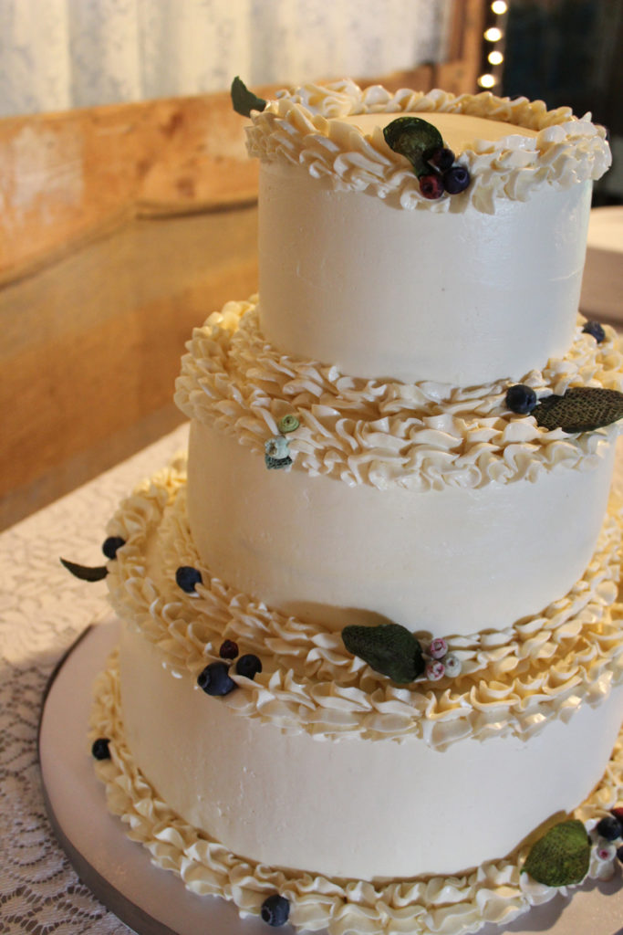 Maine Blueberry Wedding Cake